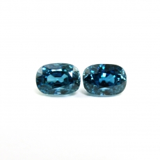 Blue Zircon Oval 9.6x6.9mm 10.65 Carat Matched Pair*