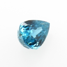 Blue Zircon Pear Shape 9.6x7.3mm 4.02 Carat Loose Single Piece