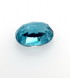 Cambodian Blue Zircon Oval 12x8mm  6.77 Carat
