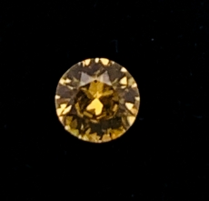 Canary  Zircon  Round 6.5mm Single Piece 1.20 Carat