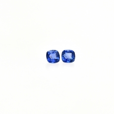 Ceylon Blue Sapphire Cushion Shape 3.8mm Matching Pair Approximately  0.63 Carat