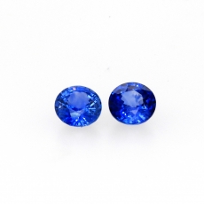 Ceylon Blue Sapphire Round 6mm Matched Pair Approximately 1.94 Carat *