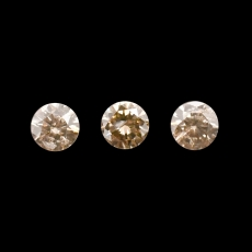 Champagne Diamond Round 3.2mm Approximately 0.35 Carat