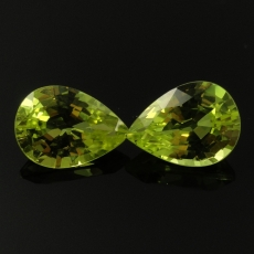 Chrysoberyl Pear Shape 7x5mm Matching Pair