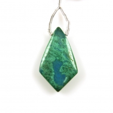 Chrysocolla Drop Shield Shape 28x16mm Drilled Bead Single Pendant Piece