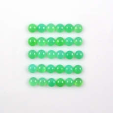 Chrysoprase Cabs  Round 5mm Approximately 14 Carat