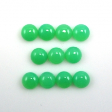 Chrysoprase Cabs Approximately 20 Carats Round 8x8mm
