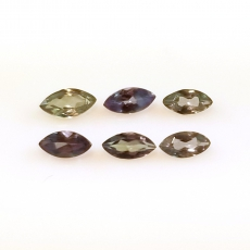 Color Change Alexandrite Marquise Shape 4x2mm Approximately 0.50 Carat