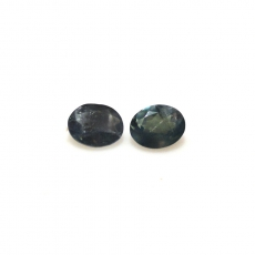 Color Change Alexandrite Oval 5x4mm Matched Pair Approximately 0.84 Carat