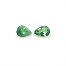 Color Change Alexandrite Pear Shape 5x4mm Matched Pair Approximately 0.56 Carat