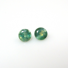 Color Change Alexandrite Round 4mm Matched Pair Approximately 0.58 Carat