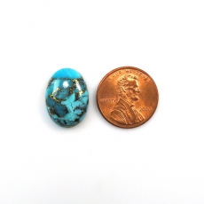 COPPER BLUE TURQUOISE CABS  OVAL 18X13MM APPROXIMATELY 9 CARAT Loose Single Piece