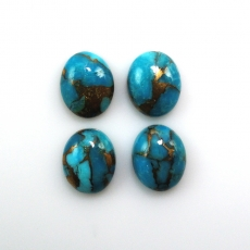 COPPER BLUE TURQUOISE OVAL 10X8MM APPROXIMATELY 9 CARAT