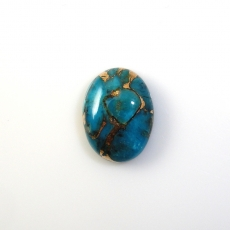 COPPER BLUE TURQUOISE OVAL 16X12MM APPROX  8 CARAT LOOSE SINGLE PIECE