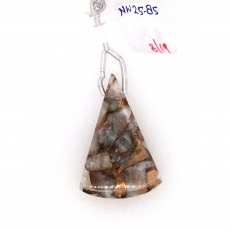 Copper Calcite Drop Conical Shape 33x22mm Drilled Beads Single Piece