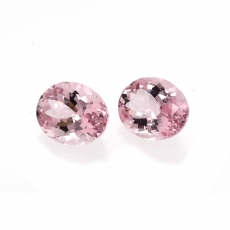 Cor De Rosa Morganite Oval 10x8mm Matching Pair, Over 5 Carat*