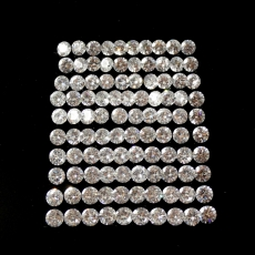 Cubic Zirconia Diamond Cut 1mm Round One Pointer Size 100 Pieces