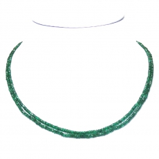 Emerald Approximately 38.90 Carat  Bead Necklace