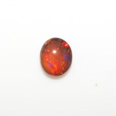Ethiopian Black Opal Cab Oval 12x11mm Approximately 3.55 Carat Single Piece