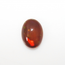 Ethiopian Black Opal Cab Oval 15x11mm Approximately 3.54 Carat Single Piece