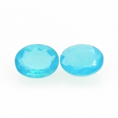 Ethiopian Blue Opal Oval 12.5x9.5MM Matching Pair Approximately 5.88 Carat