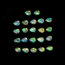 Ethiopian Opal Cabs Pear Shape 4x3mm Approximately 2 Carat