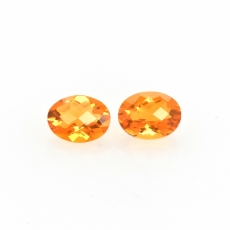 Fire Opal Oval 8x6mm Matching Pair Approximately 1.81 Carat
