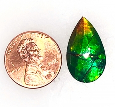 Fossilized Ammolite Pear 21.5x13mm Single Pendant Piece Approximately 8.46 Carat