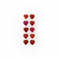 Garnet Cabs Heart Shape 6mm Approximately 11.00 Carat