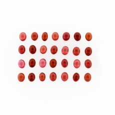 Garnet Cabs Oval Shape 5x4mm Approximately 11.00 Carat