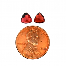 Garnet Trillion 6mm Matching Pair Approximately 1.80 Carat