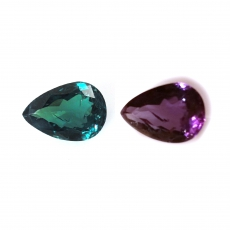Gia Certified Natural Alexandrite Pear Shape 8.31x5.84x3.71mm 1.48 Carat
