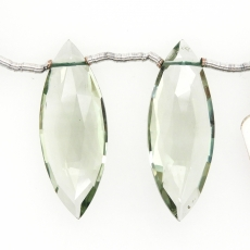 Green Amethyst Marquise Shape 30x11mm Matching Pair
