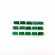 Green Onyx Baguette Shape 3.5x1.65mm Approximately 1 Carat