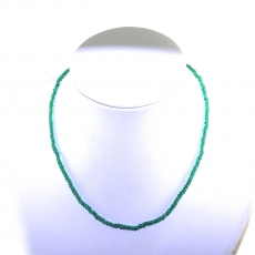 Green Onyx Facted Roundelle Beads 34 Carat 4mm Ready To Wear Necklece