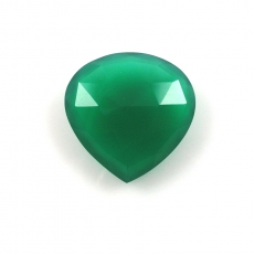 GREEN ONYX HYDRO 20 CARAT  FANCY CUT 22X22MM
