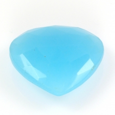 HYDRO BLUE CHALCEDONY HEART SHAPE 26MM APPROX  31 CARAT