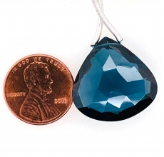 Hydro London Blue Quartz Drops Pear Shape 18x18mm  Single Pendant Piece
