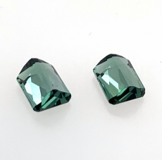 Indicolite Tourmaline Emerald Cut 7x5mm Matching Pair  2.26carat