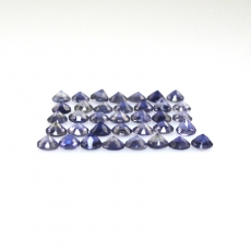 Iolite Round 2mm Approximately 1 Carat