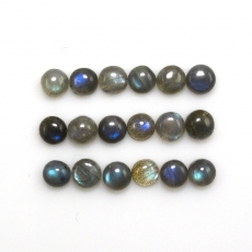 Labradorite Cabs  Round 5mm Approx 7 Carat