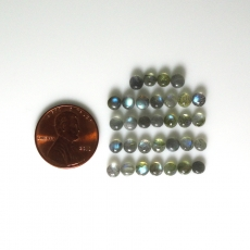 Labradorite Cabs Round 4mm Approx  9 Carat
