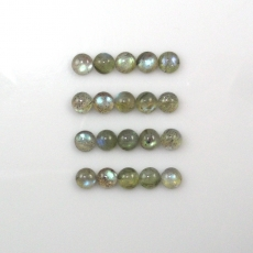 Labradorite Cabs Round 6mm  Approx  16 Carat