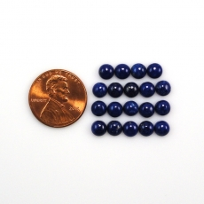 Lapis Cabs Round 5mm Approximately 9 Carat