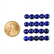 Lapis Cabs Round 6mm Approximately 16 Carat