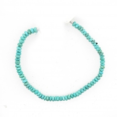Larimar Drops Roundelle Shape 4mm Accent Beads 6 Inch Line