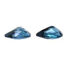 London Blue Topaz Pear Shape 8x6mm Matching Pair Approximately 2.40 Carat