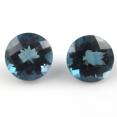 London Topaz Round 10mm Matched Pair Approx  8.64 Carat