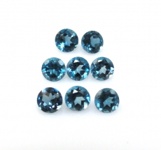 London Topaz Round 4mm Approximately 2 Carat