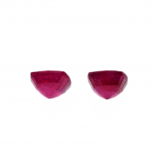 Madagascar Ruby Cushion 6mm Matching Pair Approximately 3.06 Carat